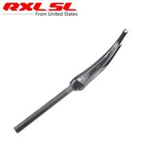 RXL SL Cycling Carbon Road Fork 28.6mm Road Bicycle Forks 3K Gloss/Matte Bike Parts Fit For V Brake 700C Carbon Fork