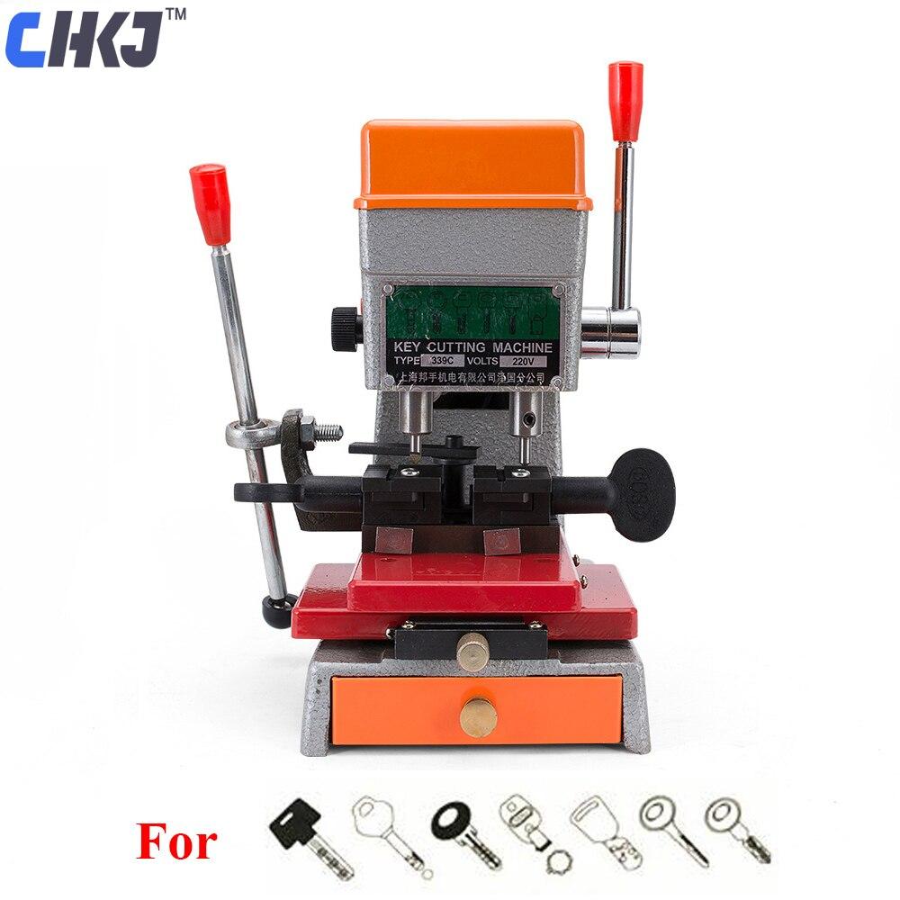 CHKJ Goso Car Key Duplicating Machine 339C Key Copy Machine Car Door Key 220V Automatic Key Cutting Machine Locksmith Tools цена