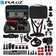 PULUZ for GoPro Accessories 45 in 1 Ultimate Combo Kit with EVA Case stocker HERO4 Session 4 3+ 3 Chest Strap Mounts