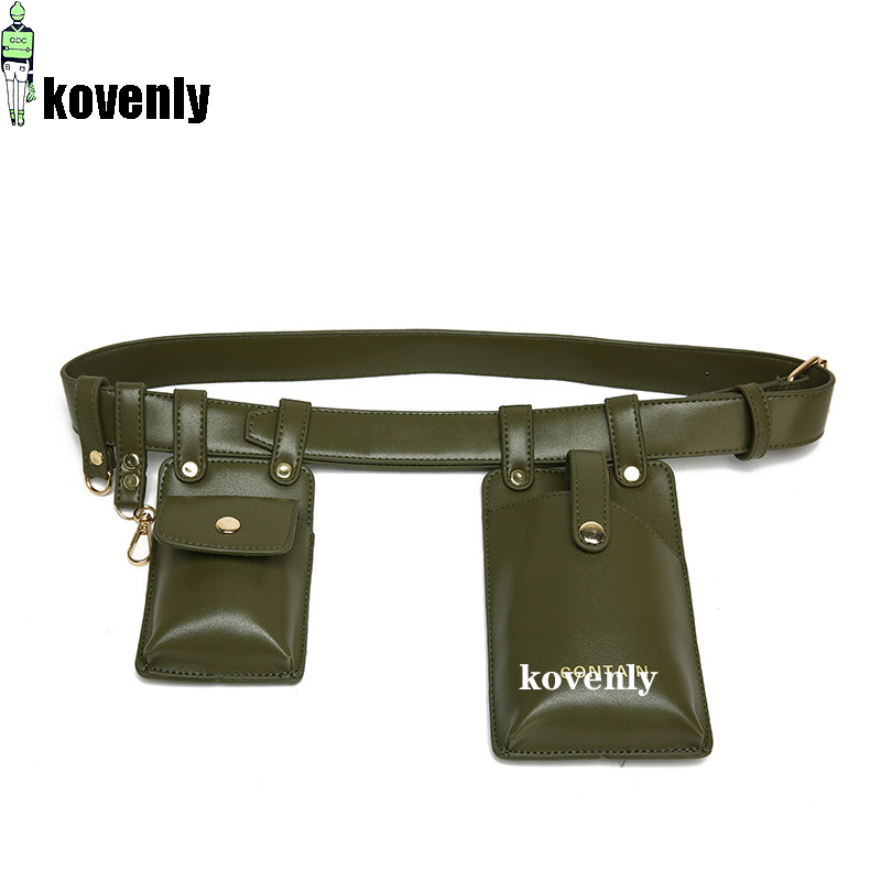 Women Waist Bag High Quality Fanny Pack Girl Chest Phone Pouch Female Belt Bag Women Two Pocket Chest Crossbody Bag Bolsa 042