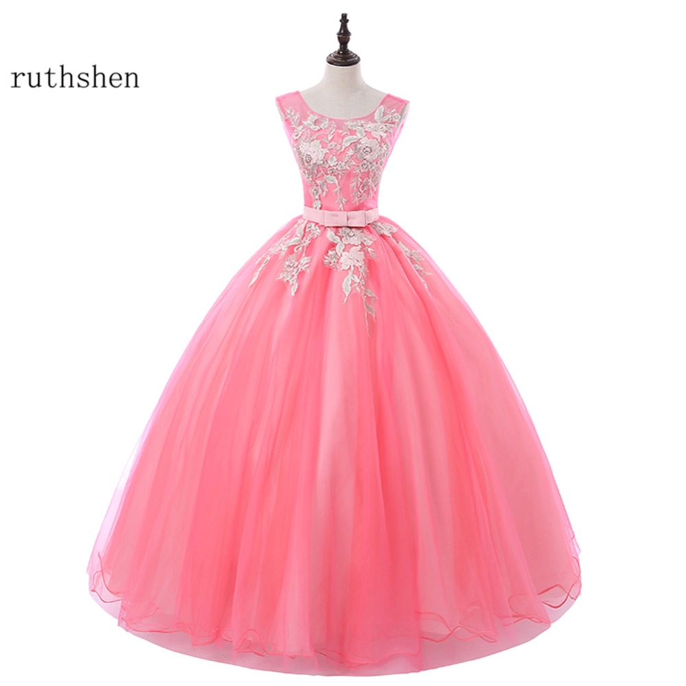 ruthshen Sweet 16 Teens Prom Dresses Cheap 2018 New Appliques Floor ...