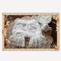 Sweet White Lolita Bloomers with Layered Lace Trimmings by Infanta