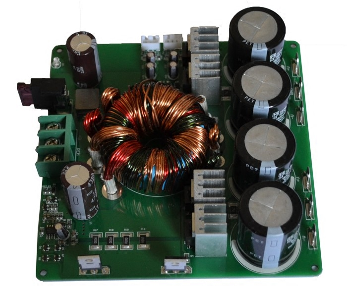 HP-6 power amplifier with 12V boost switching board power supply board 500W with protection DC converter