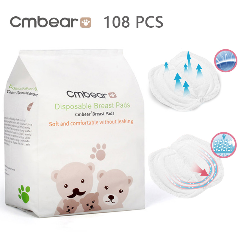 Cmbear 108 PCS/lot Cotton Disposable Breast Nursing Pads Breathable Super Absorbency Maternity