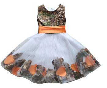 realtree camouflage flower girl dresses camo dresses for kids wedding party dress