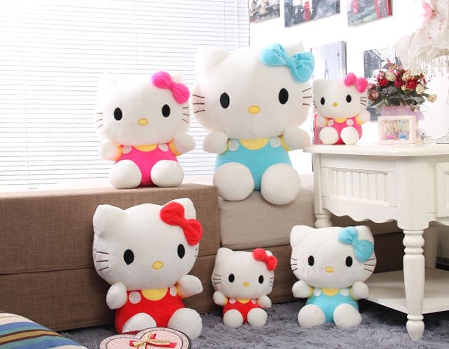 Hello Kitty Plush Toys : Adorable soft pink dots hello kitty plush toy japanese kitty cat