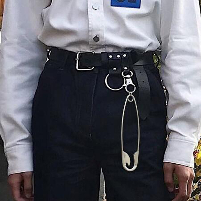 Купить уличный длинный металлический кошелек с цепочкой панк рок брюки