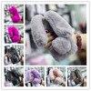 Super Cute PANDA Long Ears Rabbit Fur Ball Winter Warm Furry Phone Case Cover For Iphone