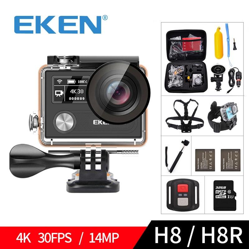 EKEN H8 H8R Ultra HD 4 karat 30FPS WIFI Action Kamera 30 mt wasserdichte 14MP 1080 p 60fps DVR unterwasser gehen Helm extreme pro sport cam