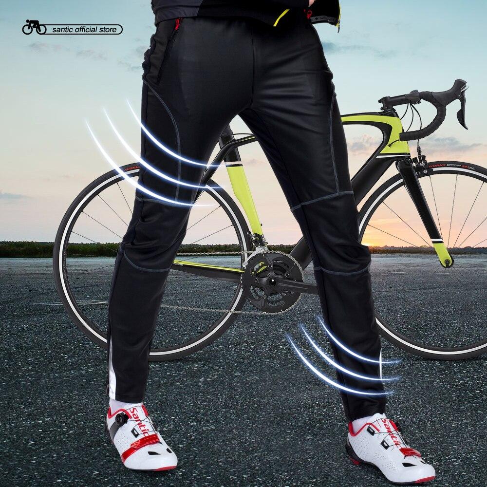 купить Santic Winter Cycling Long Pants Men Cycling Loose Pants Windproof Thermal Cycling Pants Fleece Warm Trousers Sports C04007 по цене 2509.79 рублей