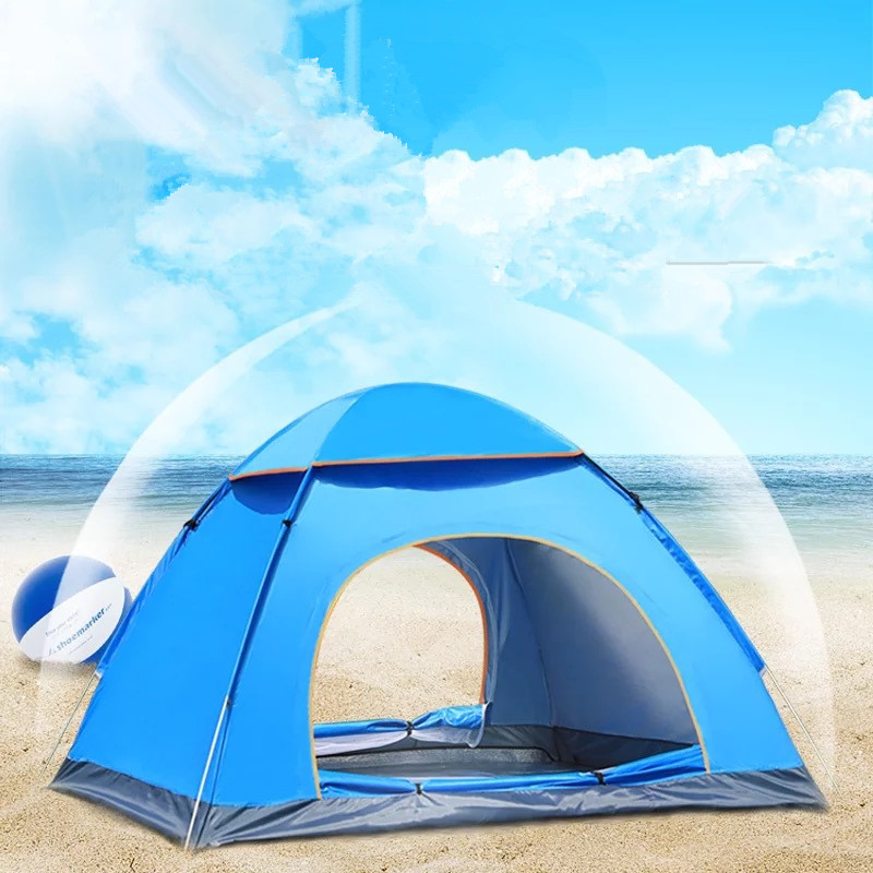 все цены на Wnnideo 3-4 Person Wholesale Tents Outdoor Fully Automatic Pop Up Beach Camping Tent Simple Quick Open  Rainproof Camping Tent онлайн
