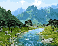 Frameless Scenery Landscape Oil Painting By Numbers DIY Digital Pictures Coloring On Canvas Unique Gift Home