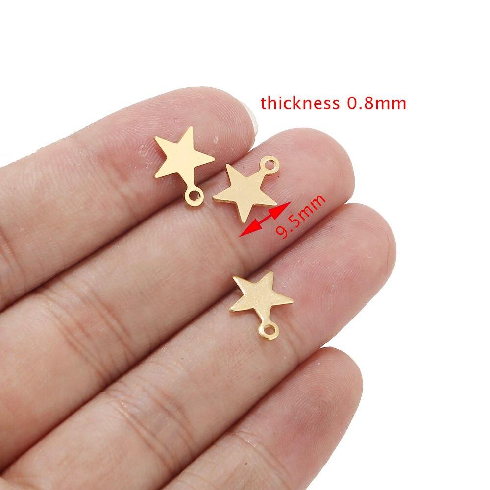 20шт нержавеющая сталь золотой тон крошечная звезда амулеты для браслета ювелирных изделий Аксессуары