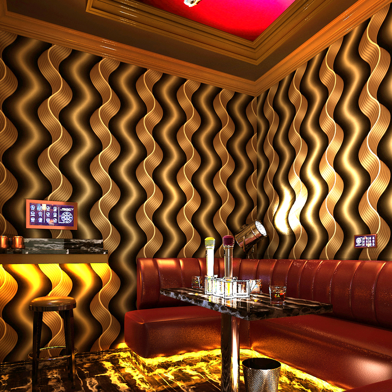 beibehang KTV Room Hotel Modern Abstract Streak Wave Gold TV Background glitter wallpaper for walls 3 d wall papers home decor modern 3d diamond geometry wallpaper living room tv sofa background wall papers for walls 3 d home decor luxury wallpaper roll