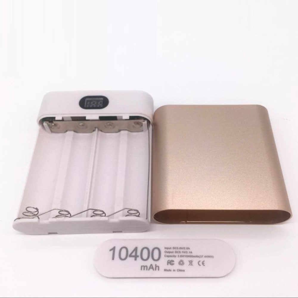 Darmowa wysyłka 10400mAh 5V podwójny USB 4X18650 etui na powerbank zestaw power bank dla smartfonów USB Micro USB Dropship