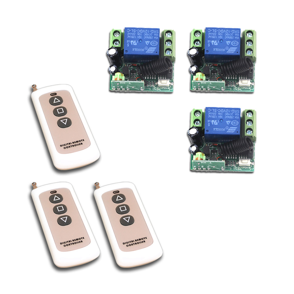 Specialize in 12V Mini Wireless Remote Control Switch System Transmitter & Receiver 315/433MHZ for Garage/ Auto door wireless 315 433mhz 12v 4ch remote control switch receiver shell for door lock can control 4 doors up to 50m for door lock sl34