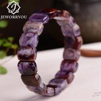 14*10*6mm Natural Purple Titanium Crystal Bracelet Femme Purple Bracelets Gift Ladies Bracelets For Women Armband Damen