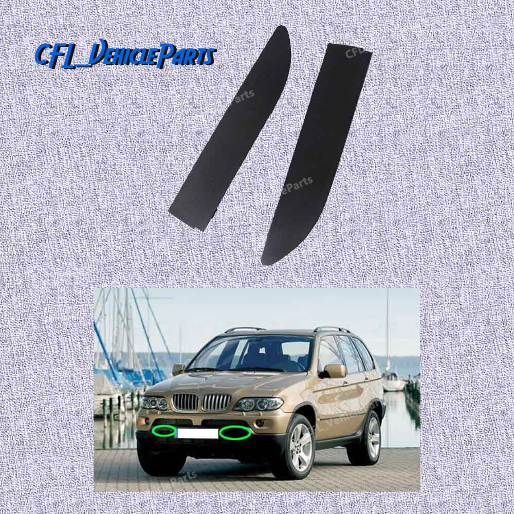Front Bumper Left Tow Hook Cover Eye Cap for BMW X5 E53 2000-2003 51118250413