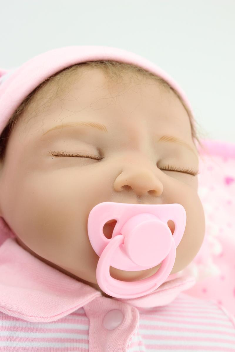 About 55cm Silicone reborn baby dolls beauty pink lifelike baby doll for baby girl children birthday new year gift brinquedos silicone reborn baby doll toy lifelike reborn baby dolls children birthday christmas gift toys for girls brinquedos with swaddle