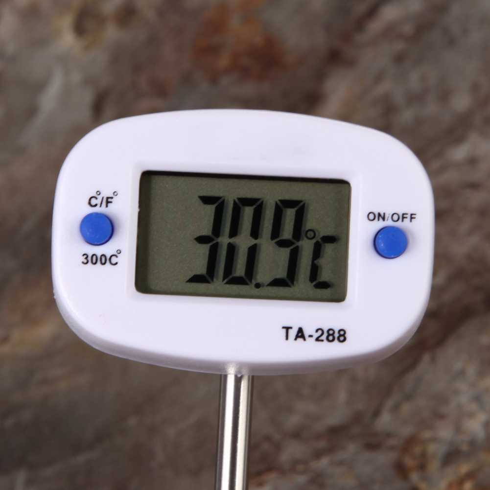 Digital LCD Food BBQ Meat Chocolate Oven Cooking Probe Thermometer Kitchen EN