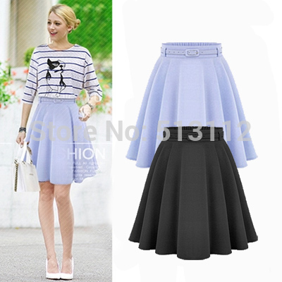 Plain Black Midi Skirt - Dress Ala