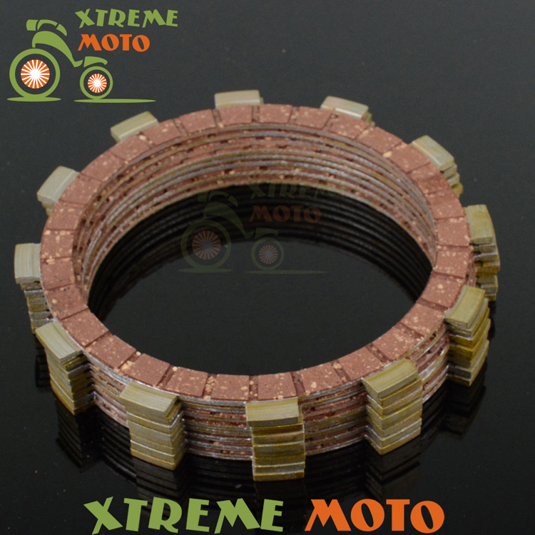Clutch Plates Disc Set 9pcs For Yamaha YZ125 YZ 125 1993-2015 MX Motocross Enduro Supermoto Motorcycle SM Dirt Bike Off Road 270mm front brake disc rotor for cr 125 250 500 crf 250r 250x 450x 450r 230f motocross supermoto enduro dirt bike off road
