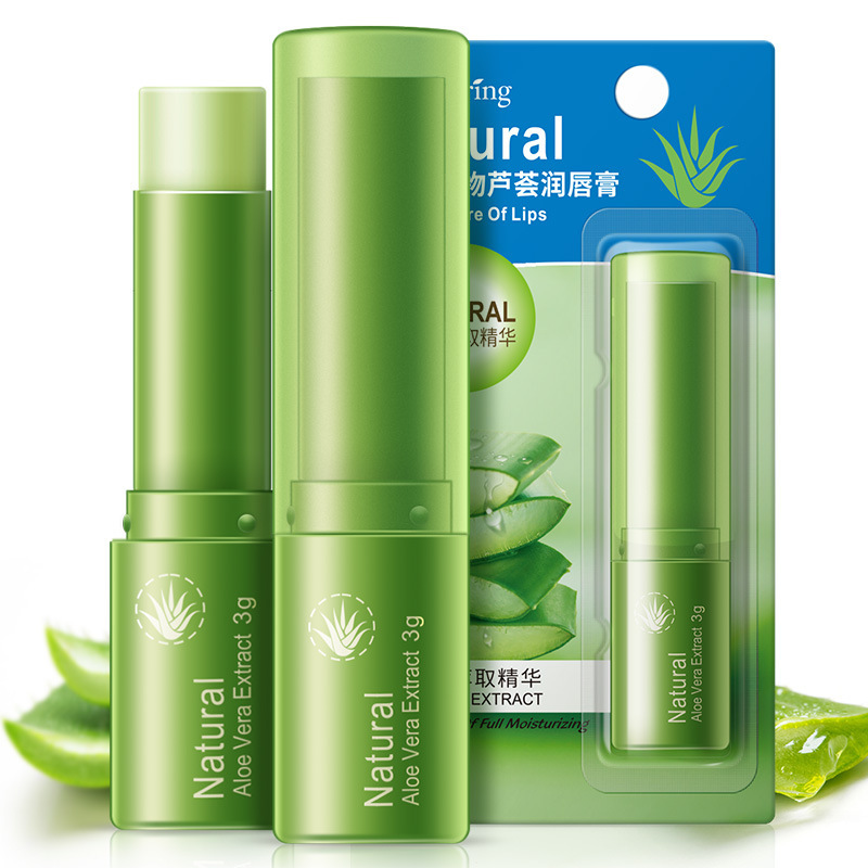 BIOAQUA Makeup Lip Sticks Long Lasting Deep Moisturizing Aloe Makeup Lip Balm Colorless Lip Care Men Female Dilute The Lip