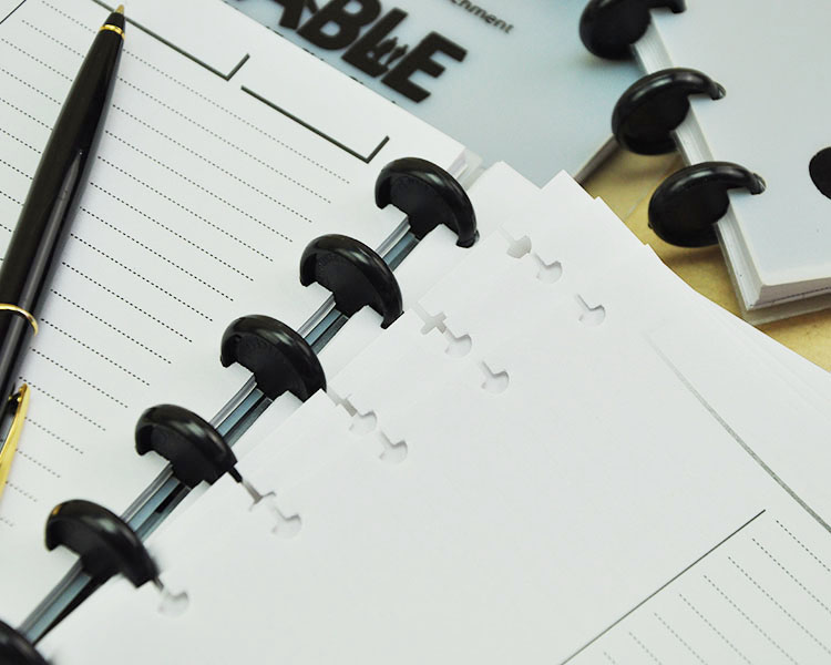 100PCS Plastic 18mm 24mm Inner Diameter Book Binding Rings Loose Leaf Notebook Ring Office School Supplies Black Round Ring in Binding Combs Spines from Office School Supplies