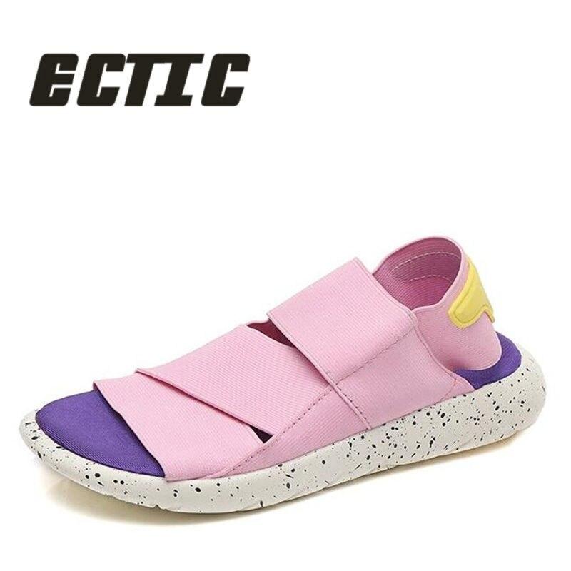 ECTIC New 2018 summer women casual Sandals shoes Non-slip beach Flip Flops sneaker shoes soft lightweight flat shoes DD-065