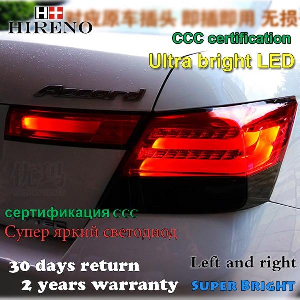 ireno Tail Lamp for Honda Accord 2008 2009 2010 2011 2012 LED Taillight Rear Lamp Parking Brake Turn Signal Lights