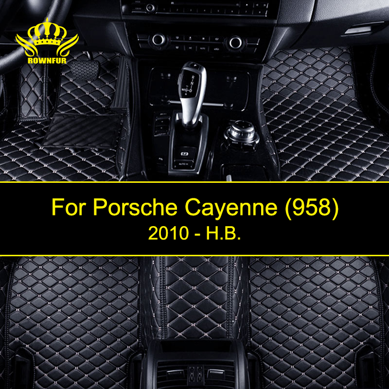 New Car Floor Mats For Porsche Cayenne 958 Custom Artificial Leather Carpet Mats Four Seasons Protect Car Clean Interior Car Mat car accessories interior floor mats carpets protector foot pads for porsche cayenne 2011 2016