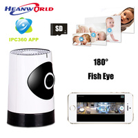 Colorful Fisheye Lens 180 Degree IP Camera 720P Wireless Smart Security WiFi Camera Panoramic Wide Angle