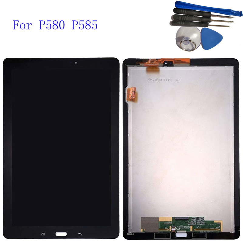 10.1 For Samsung Galaxy Tab A 10.1 2016 P580 P585 Touch Screen Digitizer LCD display Assembly for SAMSUNG SM-P580 display цена
