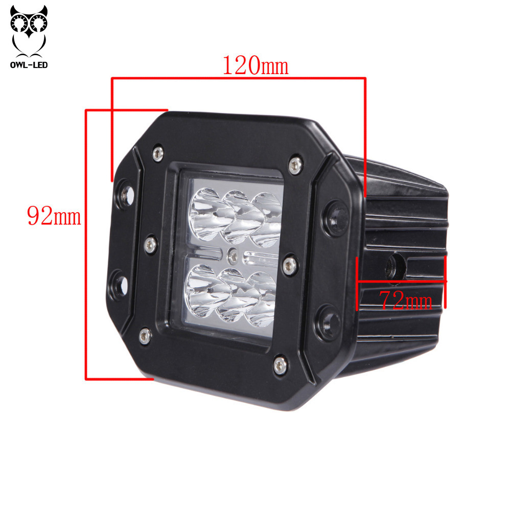 4 Inch 18W LED Work Light for Indicators Motorcycle Driving light for Offroad Boat Car Tractor Truck 4x4 SUV ATV 12V