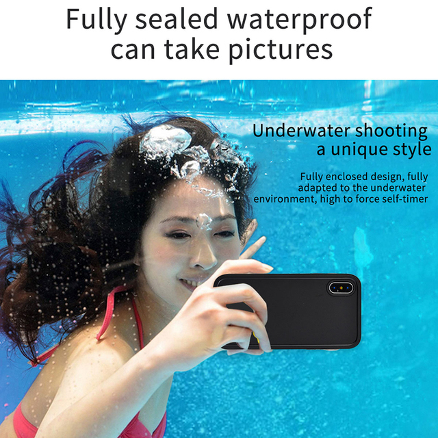 IP68 Real Waterproof Phone Case For iPhone X 8 7 Plus 6 6S Plus Full Protection Cover Under Water Case For iPhone 5 5S XR XS Max