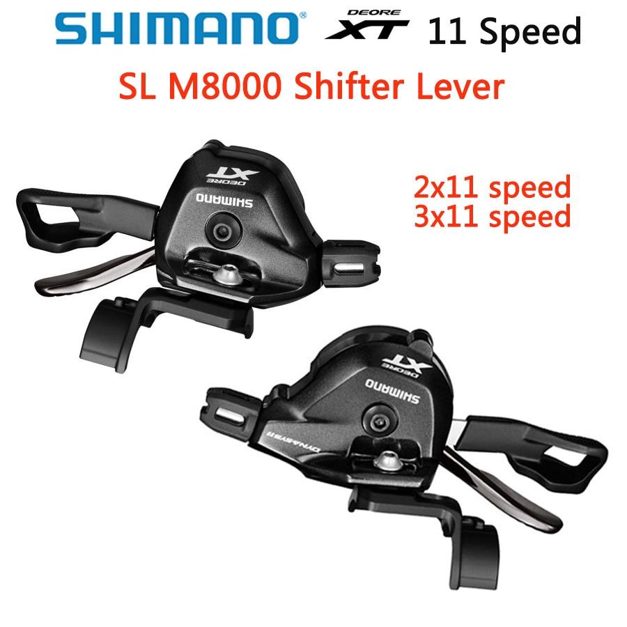 SHIMANO Deore XT SL M8000 levier de vitesse M8000 i-spec II levier de manette de vitesse vtt Rapidfire Plus accessoire de VTT 3x11 2x11-Speed