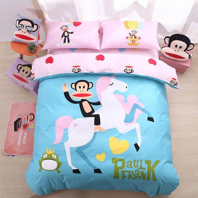 Paul Frank 3 4pcs Cartoon Series Bedding Set Children Single Double Unicorn E Music