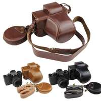 Luxury PU Leather Camera Bag Case For Fujifilm X T100 XT100 Camera Protective Cover With Battery Opening