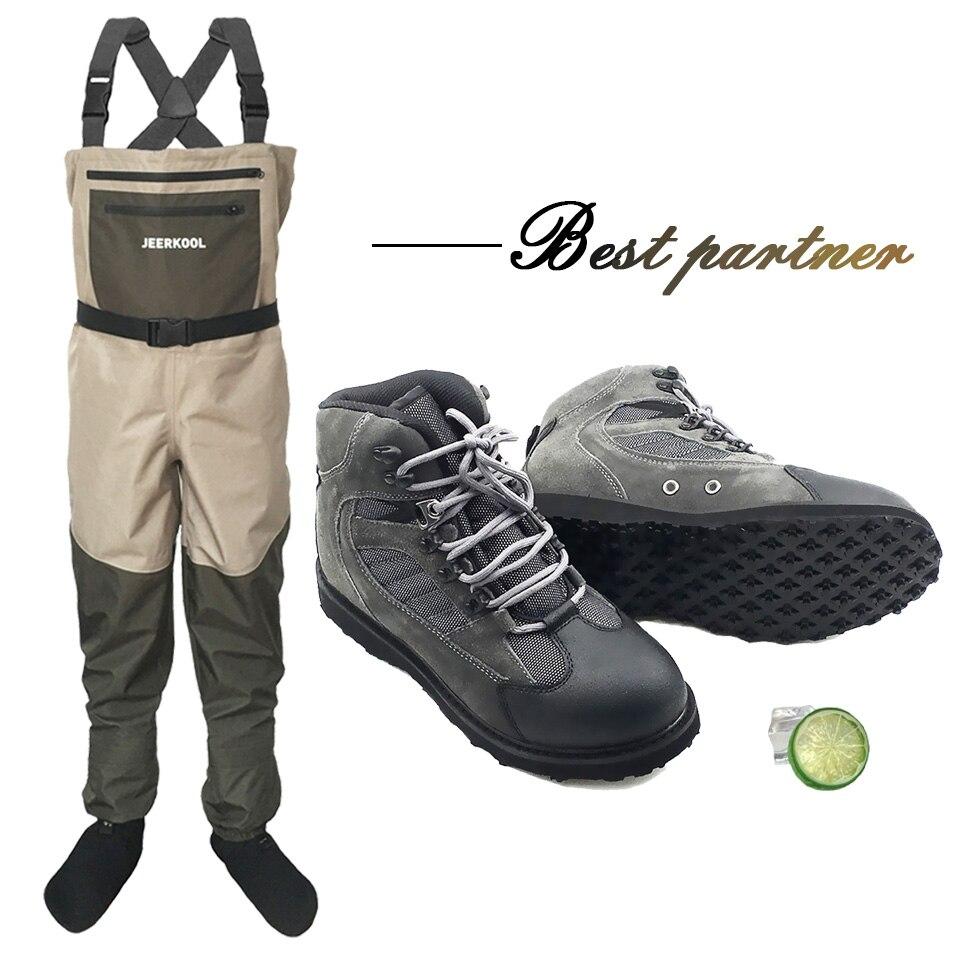 Pêche à la mouche Chaussures & Pantalon Aqua Sneakers Vêtements Ensemble Patauger Étanche Costume Cuissardes Semelle En Caoutchouc Boot Rapide-sec Pas -slip Rock Sport