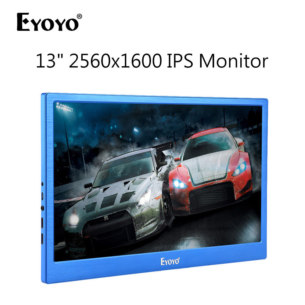 EYOYO 13 2K 2560x1600 Dual HD 1080P Display IPS Gaming Monitor 178degree Input Built-in Speakers For PC DVD PS2 PS3 PS4 Xbox