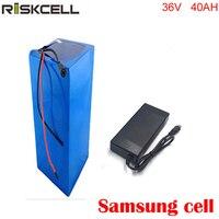 Batería eléctrica de iones de litio 36 v 40ah para 36 V 8fun/bafang 750 W/1000 W cargador de moto + 5A para celular Samsung