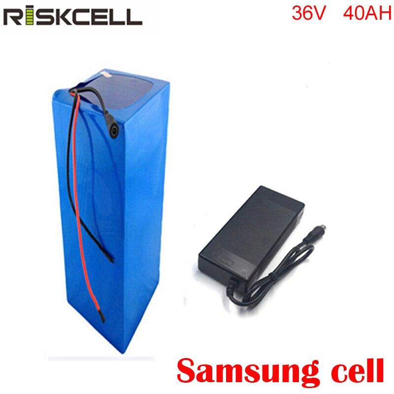Vélo électrique 36 v 40ah lithium ion batterie pack pour 36 V 8fun/bafang 750 W/1000 W moto + 5A chargeur pour Samsung cell