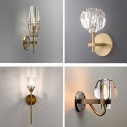 Kryształowy abażur dekoracja kinkiet lekki uchwyt żarówki łatwa instalacja do wewnętrznych korytarzy schody restauracje hotele w Lampy ścienne od Lampy i oświetlenie na