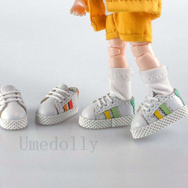 1 Pair Inner 2.3cm Lovely Mini Doll Sneaker Shoes For Blyth, Holala, Ixdoll, 1/12 Bjd, OB 11 Doll Accessories