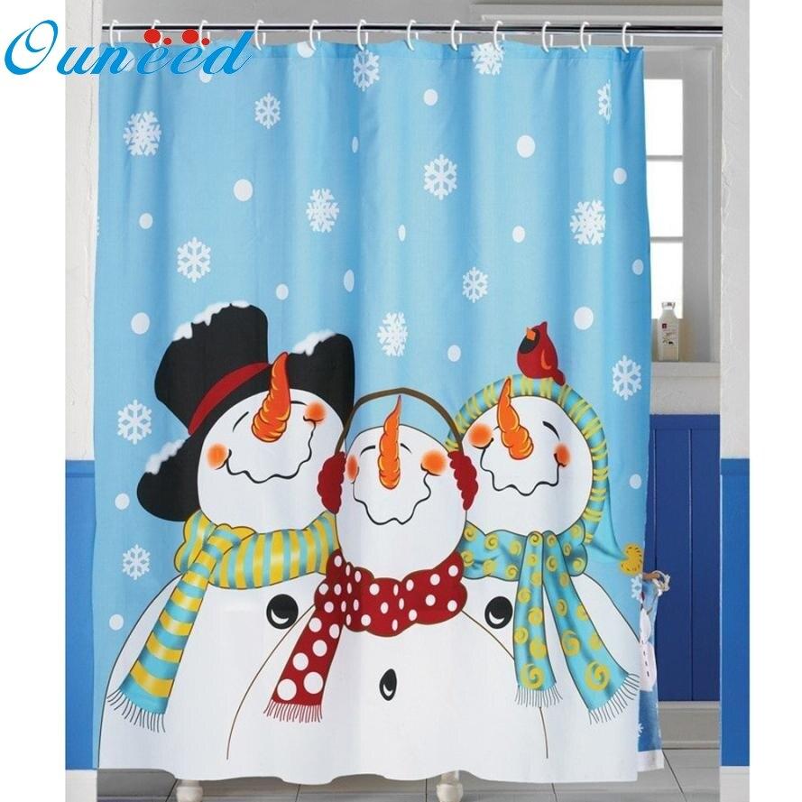 Bathroom window curtains waterproof - Custom Merry Christmas Fabric Waterproof Bathroom Shower Curtain 72 X 72 Ma9 Levert Dropship China