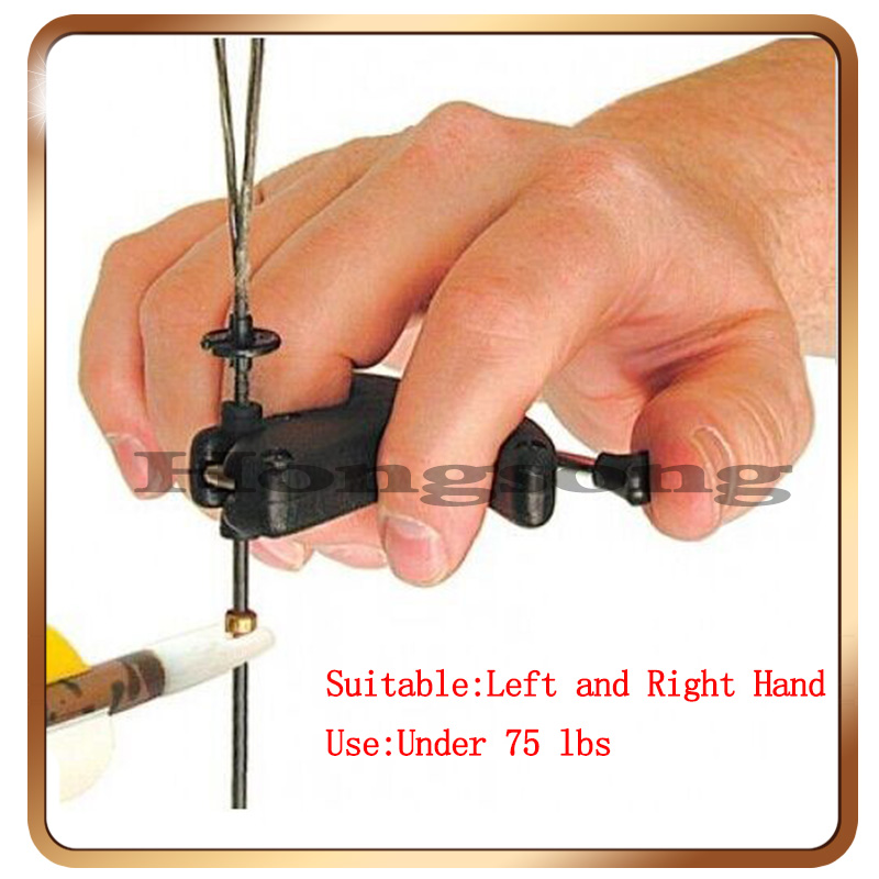 1 Pcs Black Archery Thumb Style Bow Tool Hunting Outdoor Sports Accessries Hunting Arrow ...