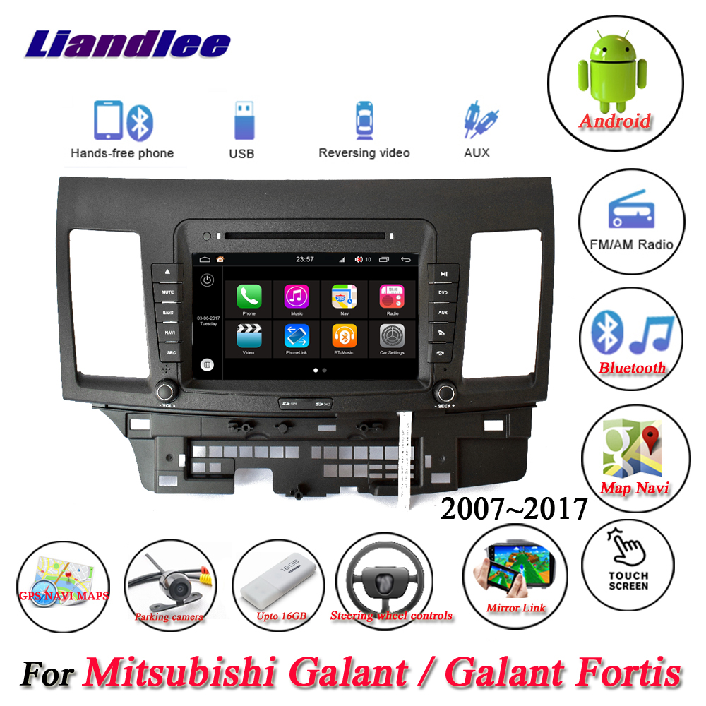 Liandlee For Mitsubishi Galant / Galant Fortis Stereo Car Radio Camera Wifi CD DVD Player GPS Map Navi Navigation Android System цена