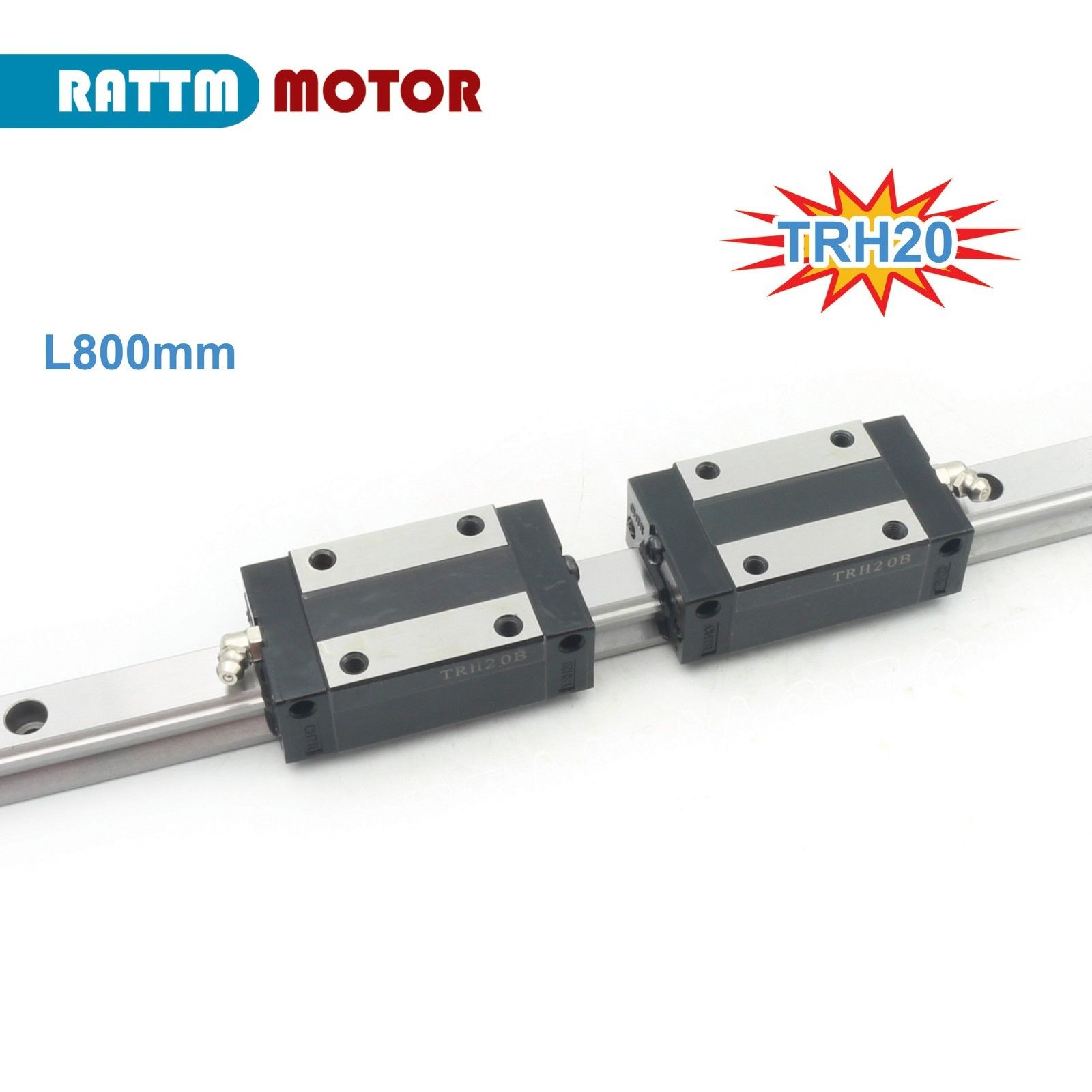 20mm Square Linear guide Rail 800mm+TRH20B Slider Block Carriages for CNC Router