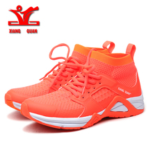 Xiang crown top brand breathable ladies sports outdoor light running shoes 2017 sports smart grid Senna European size 36-45