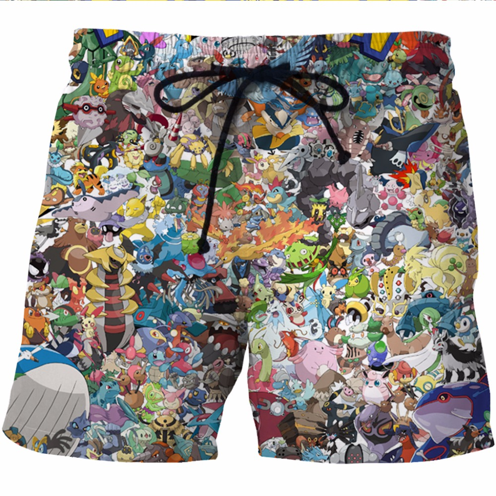 Men's Clothing Vacation Men Short Quick Dry Board Shorts Anime Dragonball Beach Casual Male Goku 3d Print Breathable Fitness Summer Zootop Bear